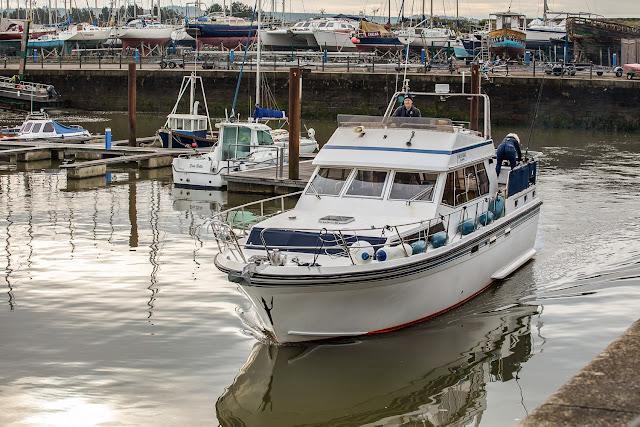 Photo of Ravensdale leaving Maryport Marina in Cumbria, UK, on Tuesday morning