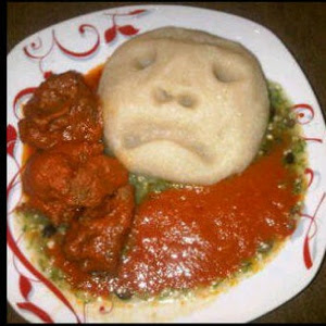 armed robbers eating eba