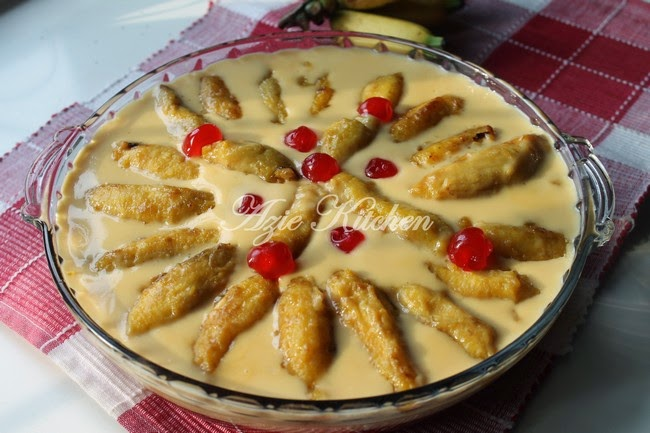 Puding Trifle Pisang Lemak Manis