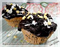 cupcake de noël banane noix et chocolat