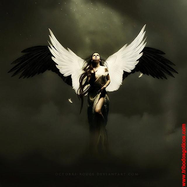 anja,asas,preta,branca,luciferiano mulher