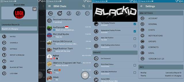 BBM MOD BlackID Bluegrey Edition V3.0.1.25 Apk
