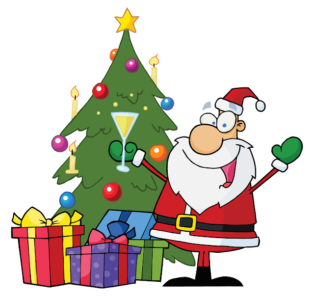 clipart greets funny cartoon santa merry xmas picture