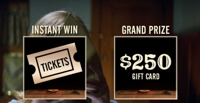 Universal Pictures is giving away FREE tickets to go see the Ouija movie every single day until Halloween and one lucky winner will get a gift card worth $250!
