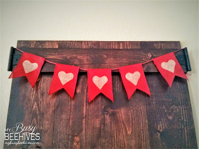 Wooden Backdrop with heart banner.