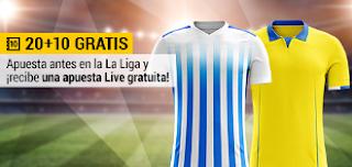 bwin promocion 10 euros gratis Málaga vs Las Palmas 20 febrero