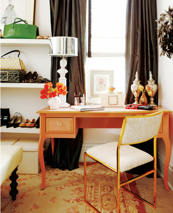 elegant orange desk