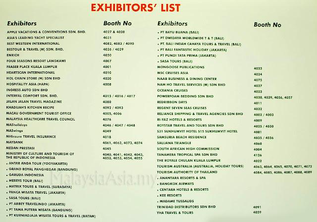 Exhibitors List Luxury Tourism Fair Malaysia