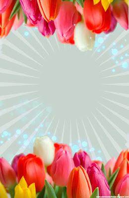 Invitación Elegante y Novedosa para Bodas Tulipanes Fucsia y Naranja