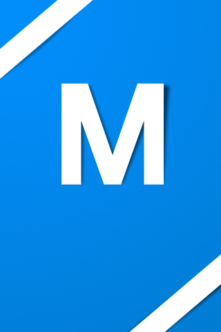 Letter M Simple Text iPhone Wallpaper