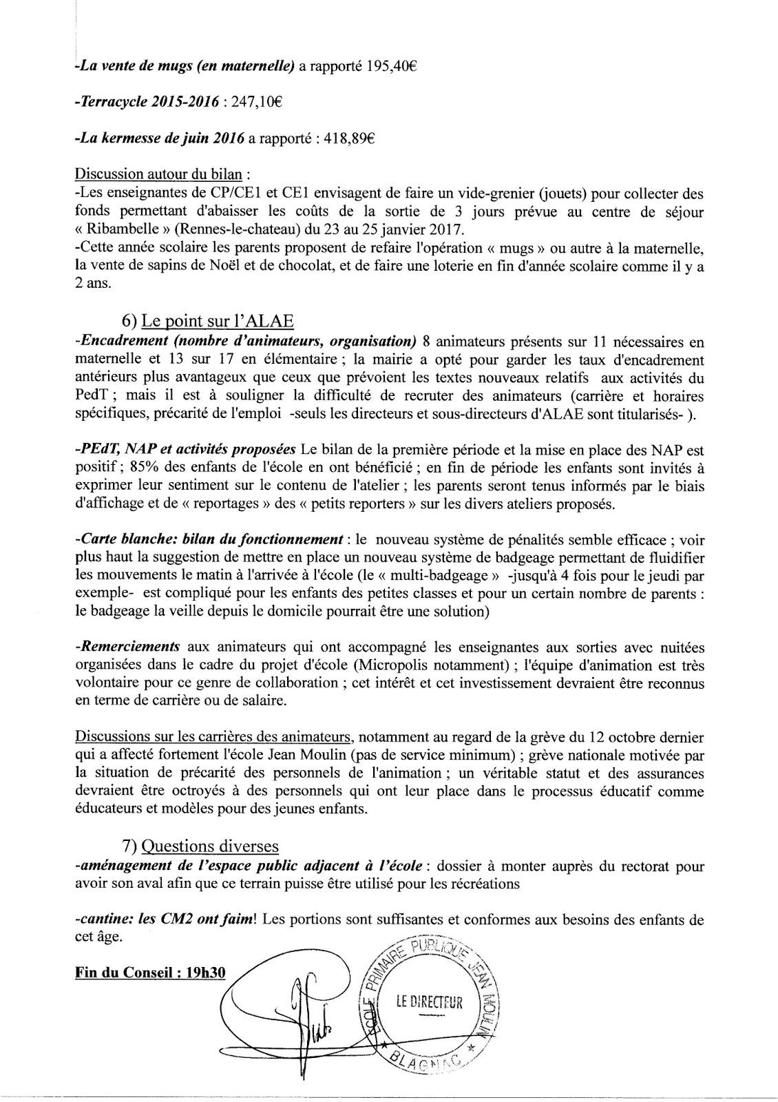Les Parents Des Petits Caouecs Compte Rendu Du Premier Conseil D Ecole De L Annee Scolaire 2016 2017