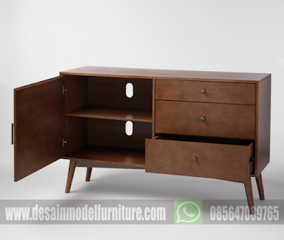 10 Desain bufet retro minimalis untuk mempercantik interior ruang keluarga