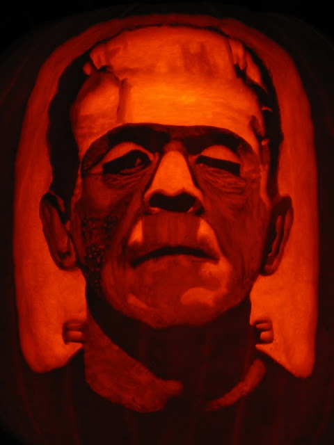 Printable frankenstein pumpkin carving pattern template free download funny halloween day 2018 for Frankenstein pumpkin carving