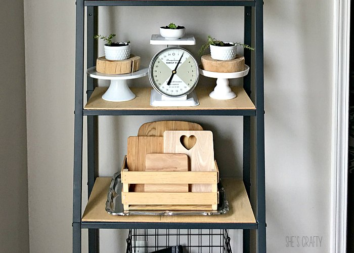 Money Saving Ways to get a new look- Farmhouse Shelving unit