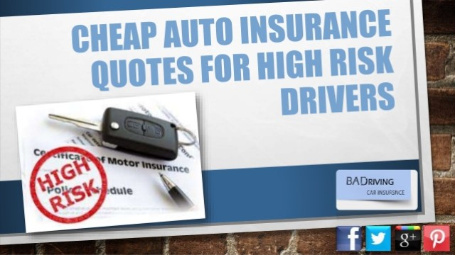 Low Insurance for High Risk Drivers