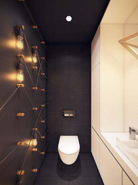 toilettes jeux de lumières