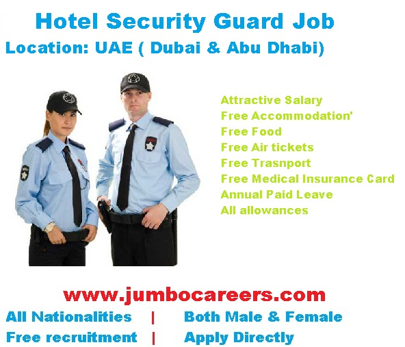 Hotel security guards job vacancy in uae dubai abu dhabi jumbo hotel2bsecurity2buae thecheapjerseys Choice Image