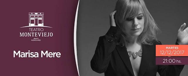Marisa Mere presenta su disco en el Teatro Monteviejo