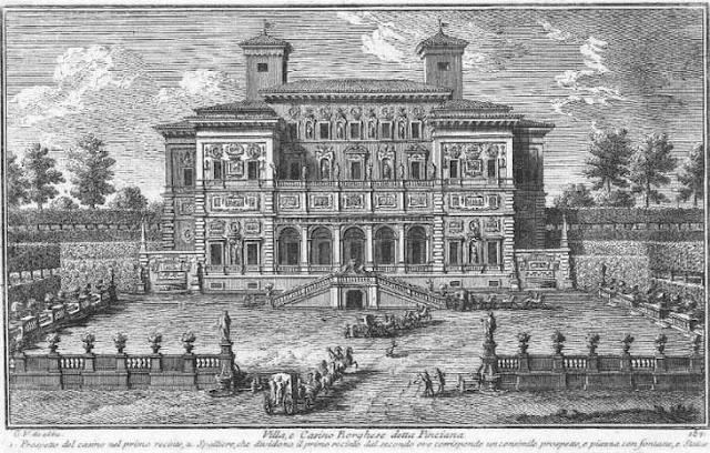 Villa e Casino Borghese, em 1761