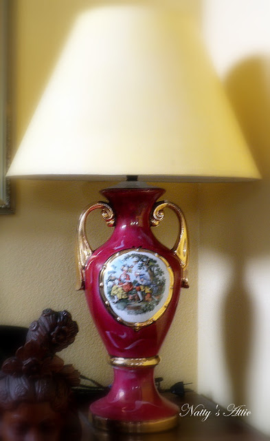 Vintage George Amp Martha Washington Lamp Picture Unique Arts