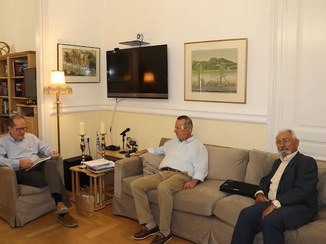Συνάντηση Π. Νίκα με τον Β. Κωτσιομύτη για το Μουσείο Φυσικής Ιστορίας Επιδαύρου