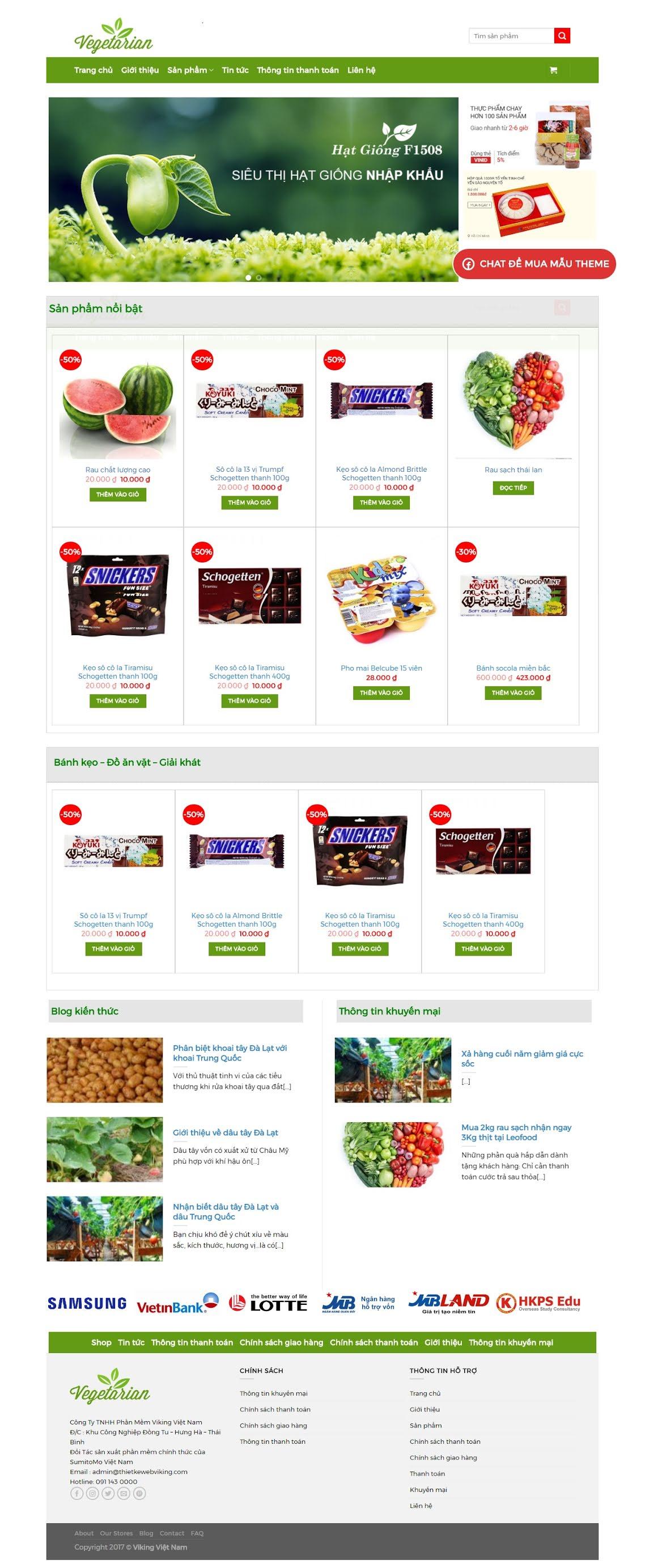 MẪU BÁN HÀNG 076 - shop thực phẩm