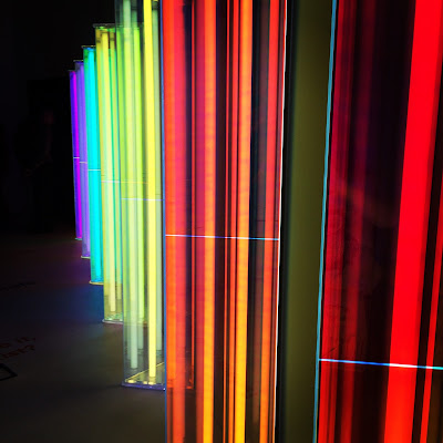 Our Spectral Vision by artist Liz West - many-hued prisms