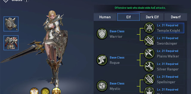 Class Job Elf Temple Knight di Lineage 2 Revolution Indonesia