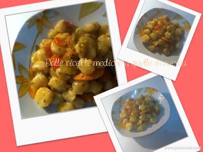 gnocchi di patate con zucchine pachino e gamberi