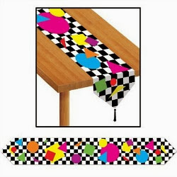 80s Party Table Runner