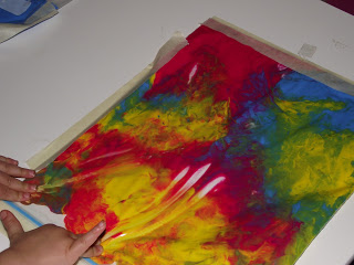 Toddler no mess painting