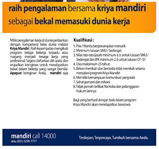 Daftar Lowongan Kerja Bank Mandiri Bangkalan Terbaru 2020
