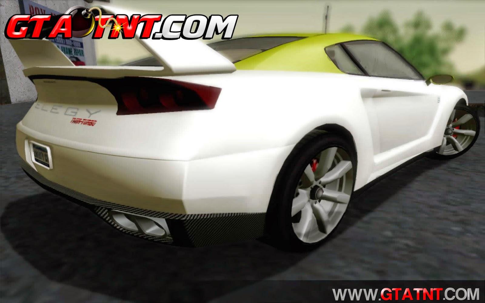 GTA SA - Elegy RH8 Twin-Turbo Convertido do GTA V | GTA TNT | Mods
