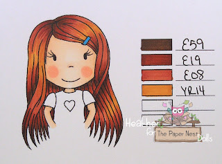 Heather Huggins - The Paper Nest Dolls Copic Hair Color