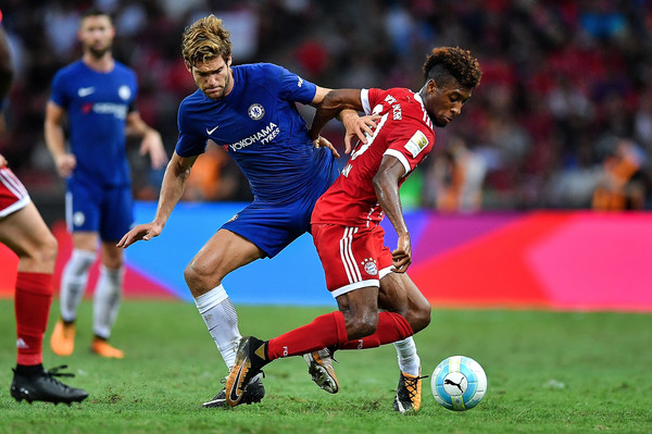 Chelsea FC v FC Bayern( Coman áo đỏ)
