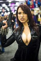 Cosplay girl with a gun