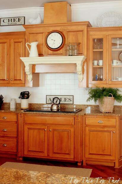 Painting Kitchen Backsplash - Duke Manor Farm