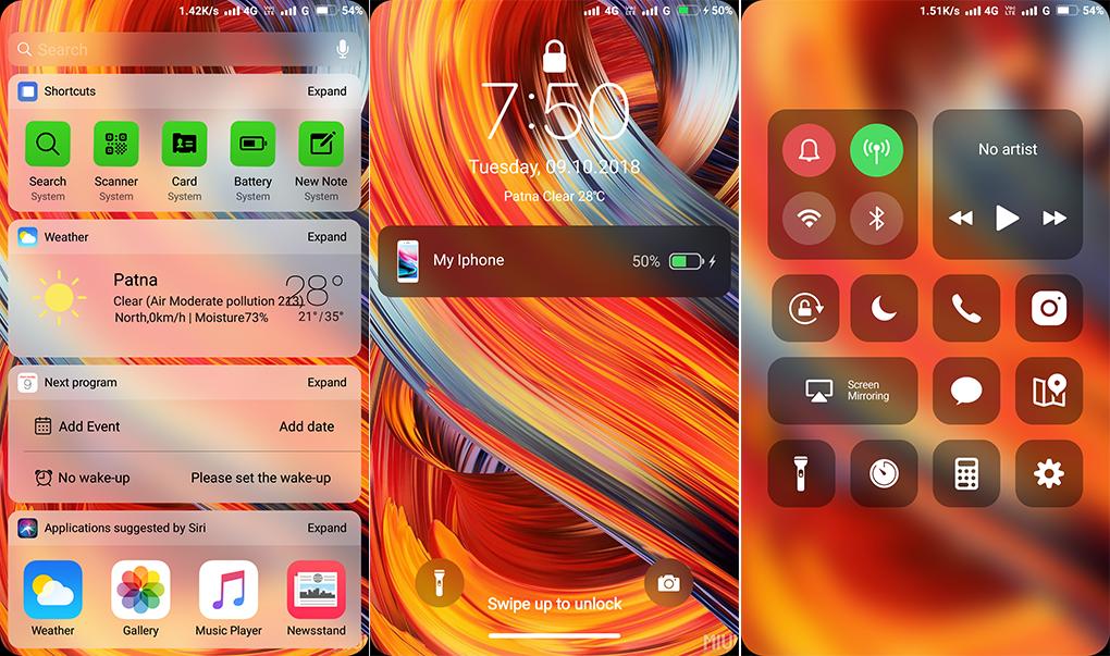 iPhone iOS 11 4 TT MIUI Theme MTZ Download For Xiaomi Mobile - MIUI