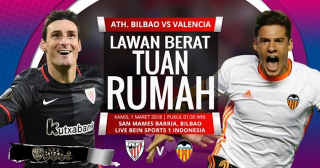 Prediksi Athletic Bilbao Vs Valencia, Kamis 01 Maret 2018 Pukul 01.30 WIB