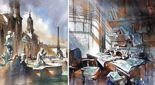 00-Thomas-Schaller-Watercolor-Paintings-Indoors-and-Outdoors-www-designstack-co
