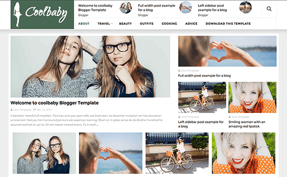 CoolBaby Fashion Blogger Template