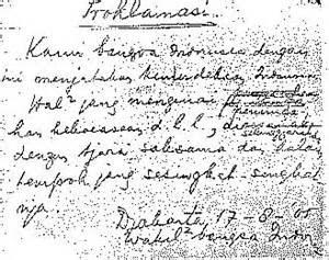 gambar naskah proklamasi kemerdekaan