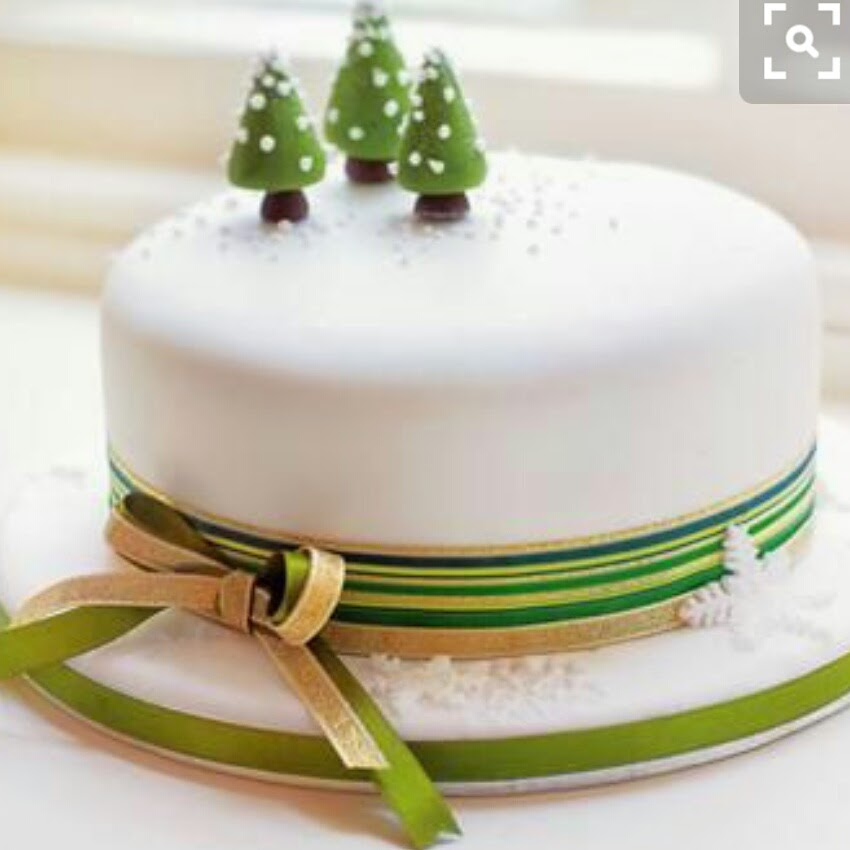 Resultado de imagem para simple christmas cake designs