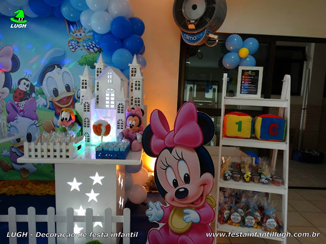 Decoração festa Baby Disney - Provençal simples