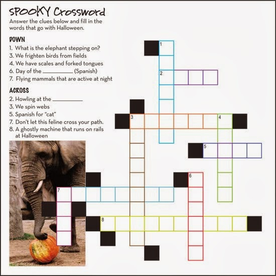 halloween crossword printable 5 - Halloween Crossword Puzzles With Answers