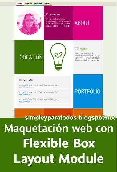 Video2Brain. Maquetacion web con flexible box layout module.