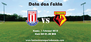 Data dan Fakta Fantasy Premier League Stoke City vs Watford FC Fantasi Manager Indonesia