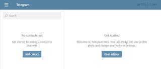 Telegram di PC atau Laptop - Cara Download Install Daftar - Web chat Telegram