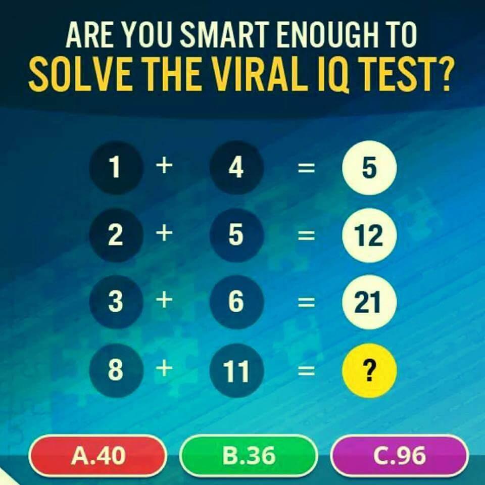 Viral IQ Maths Test - Shake The Brain