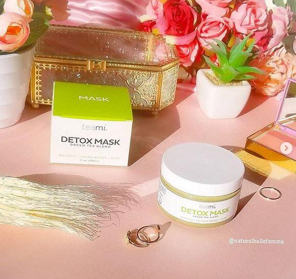 Teami detox green tea blend matcha mask